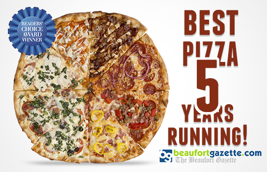 Voted Best Pizza In Beaufort 5 Years Running!